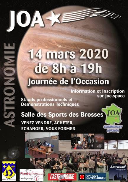 JOA: Journée de l'Occasion en Astronomie @ Gymnase Des Brosses