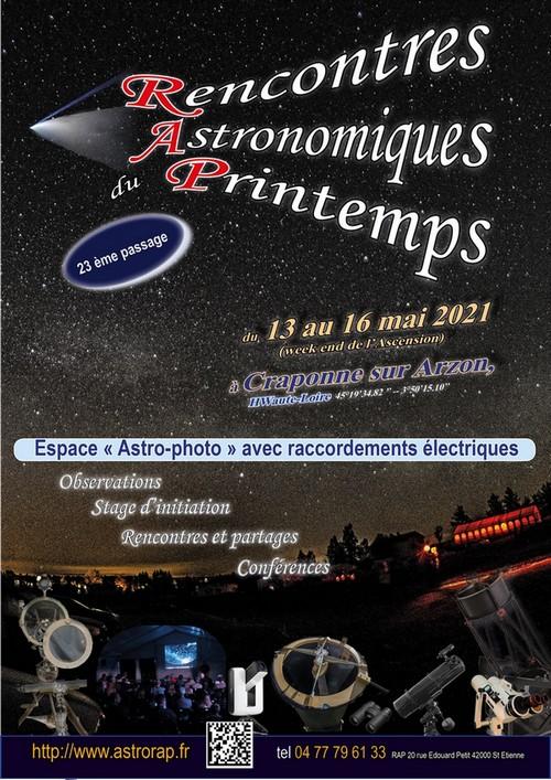 Rencontres Astronomique du Printemps (ANNULÉES)